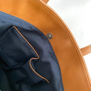 A4シンプルトートバッグ ポケット