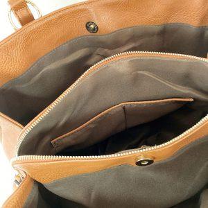 トートバッグの開口部、マグネットボタン