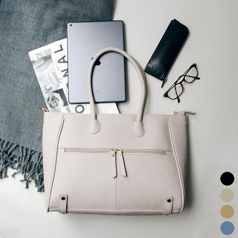 ビジネスシーンに最適なPU素材のトートバッグ